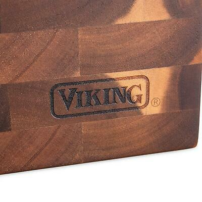 "VIKING  PROFESSIONAL  ACACIA END-GRAIN WOOD CUTTING BOARD ~ 20"" x 14"" x 2"" ~ NEW"