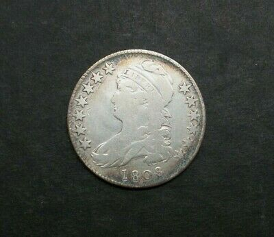 1808-P 50C Capped Bust Half Dollar SILVER US COIN M2060