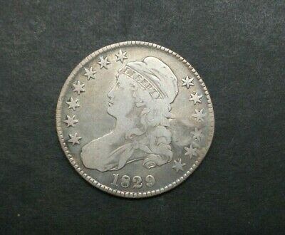 1829-P 50C Capped Bust Half Dollar SILVER US COIN M2080