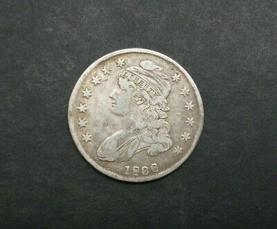 1836-P SM. DATE 50C Capped Bust Half Dollar SILVER US COIN DETAIL M2102