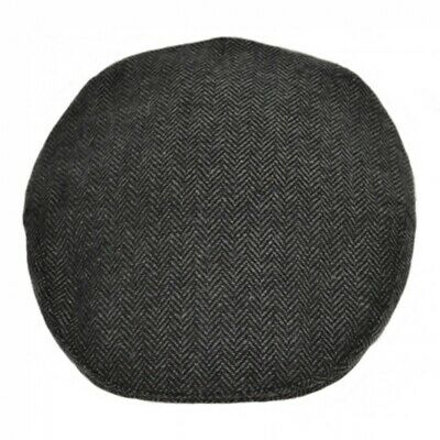 SALE Hat Flat Cap Herringbone by G&H Hats Dark Grey