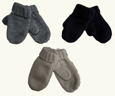ZARA Baby Boys Unisex Knit Knitted Mittens Winter Gloves 0-12 12-24 m Xmas £6.99