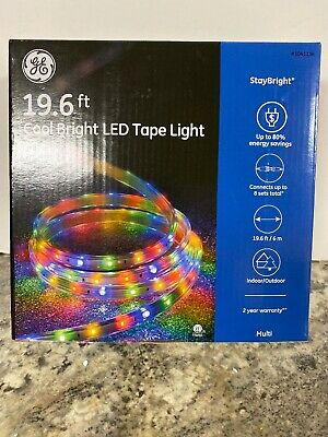 GE StayBright 19.6 ft 240-Light LED Blue Super Bright Tape Light
