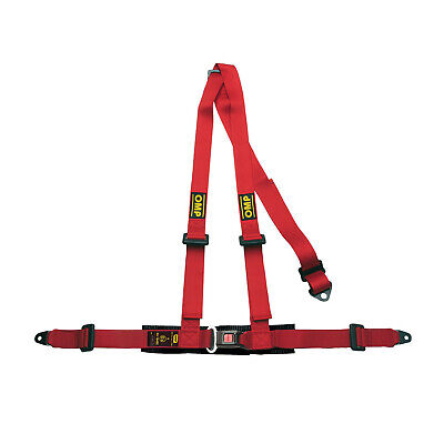 Genuine OMP  3 - points Safety Belts ECE, DA504 Red