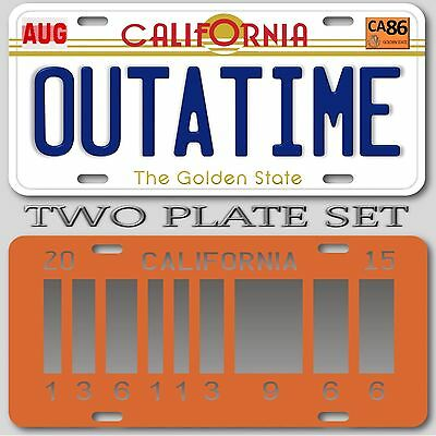 Back to the Future  Delorean  OUTATIME LICENSE PLATE ULTIMATE COLLECTORS SET