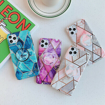 Geometric Marble Phone Case Cover Holder For iPhone 11 Pro Max XS XR 8 7 6Plus