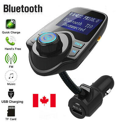 Wireless Bluetooth FM Transmitter Audio Receiver Adapter Car Kit USB Charger CA