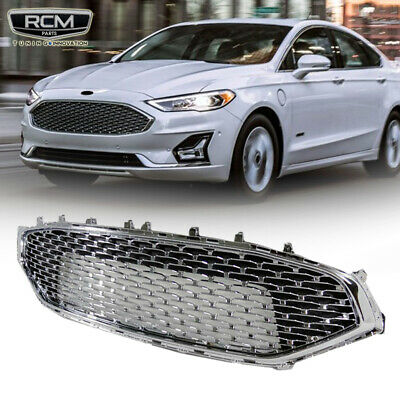 For 2019 2020 Ford Fusion Front Upper Grill Chrome Grille