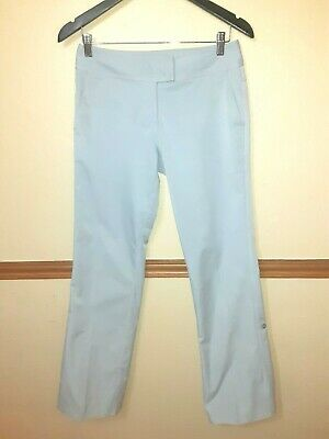 Adidas Climacool Womens Pants Gray Golf Stretch Vented Pockets Roll Up Tab SZ 2