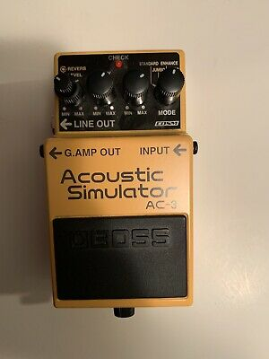 Boss AC-3 Acoustic Simulator Pedal - opened box, Immaculate w/Warranty