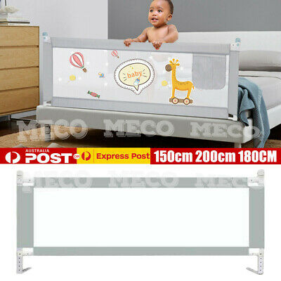 2m Kid Toddler Baby Bed Rail Guard Fence Bumper Playpen Cot Safety Equipment AU