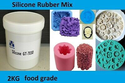 Silicone Rubber Mould making Mix 2KG 1:1 WHITE. Food Grade,fishing,cakes,soap