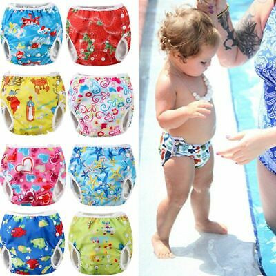 Adjustable Reusable Baby Summer Boys Girls Shorts Summer Cute Floral Swim Diaper