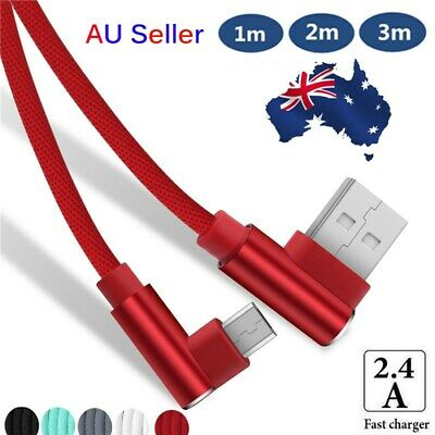 AU 1~3M Double Elbow Data Sync Micro USB IOS Type C Fast Changing Charger Cable