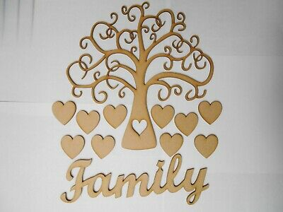 Wooden Family Tree Buy 2 Get 3rd Free 20cm X 20cm