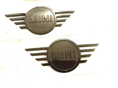 Genuine MINI F55 F56 F57 Cabrio Gloss Black Rear Badge Emblem Plaque 51142465242