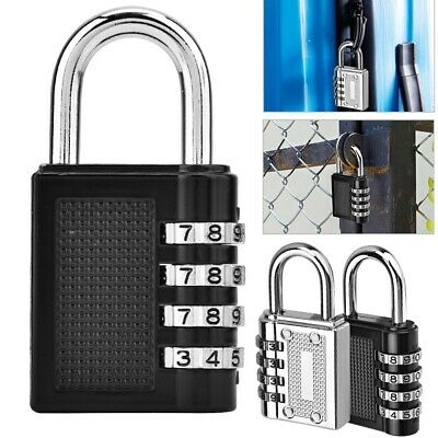 3/4 Digit Codes Password Padlock Combination Security Lock For Travel Luggage