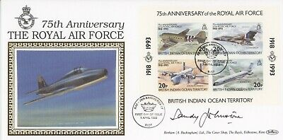 75th Anniversary Royal Air Force 1993 cover CERTIFIED SIGNED Alexander Johnstone