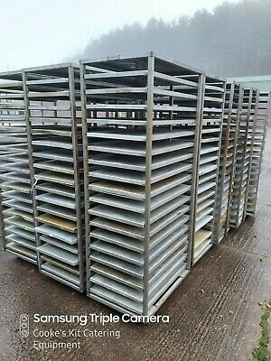 """18 Tier Heavy Duty Stainless Steel Bakery Trolley With 18 X 30"""" Trays"""