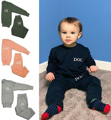 Personalised Baby Childrens Boy Girl Tracksuit Loungewear 6 Months - 6 Years