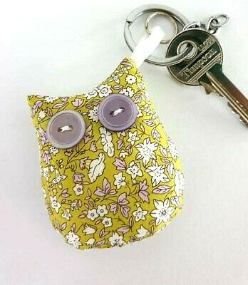 LIBERTY PRINT LAVENDER SCENTED KEYRING /'ENGLISH GARDEN/' LILAC PURPLE BAG CHARM