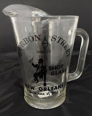 Bourbon Street New Orleans Collectible Shot Glass Glass Pitcher Only