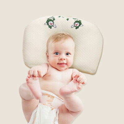 Baby Cot Pillow Newborn Infant Anti Flat Head Cushion Crib Bed Neck-Support ONE