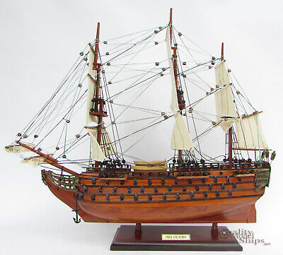 """HMS Victory Ship Model Ready for Display 20"""""""
