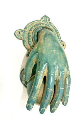 hand fist ball green Door Knocker fingers solid brass hollow 11cm old style