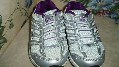 LA GEAR Infant/Baby Girls Shoes Sz. 7 - PURPLE WHITE TENNIS NICE See Pic