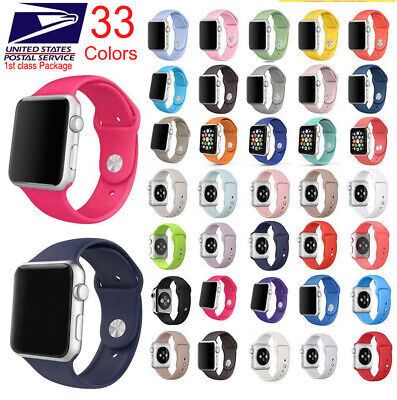 Silicone Band Strap Apple Watch iWatch Sports Series 5/4/3/2/1, 44/42/40/38mm