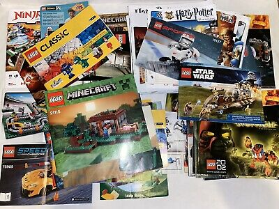 LEGO MANUALS ONLY Lot of 5 Pounds Lbs Instruction Booklets Minecraft Star Wars