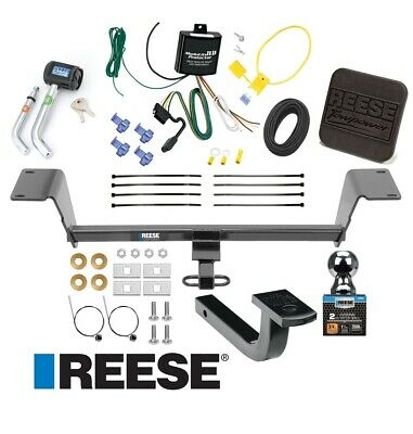 "Reese Trailer Tow Hitch For 15-18 Audi A3 Ultimate Bundle Wiring 2"" Ball & Lock"