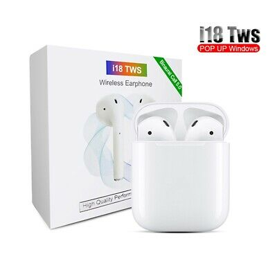i18 TWS Touch 5.0 wireless Bluetooth Headphones Earbuds, Auto Connect