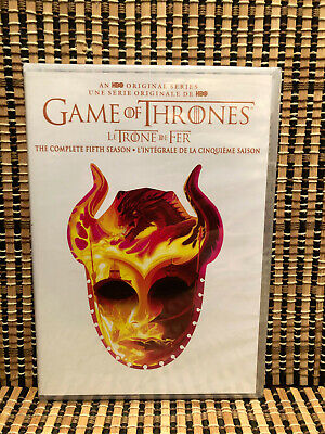 Game of Thrones: Season Five (5-Disc DVD, 2018)GoT.Fifth/Stark/HBO/Reissue