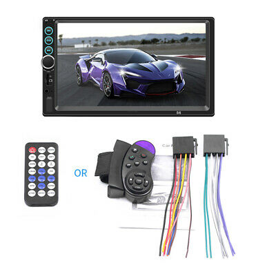 """7"""" 2DIN Touch Screen Car Radio Stereo MP5 Player Bluetooth USB AUX FM TF ISO GPS"""