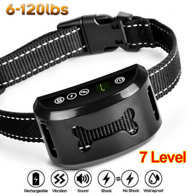 Waterproof Rechargeable 7 mode Auto Anti-Bark Collar Stop Dog Barking Shock/safe