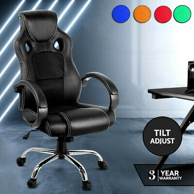 New Gaming Office Chair Computer Chairs Seating Racer Racing Executive Black