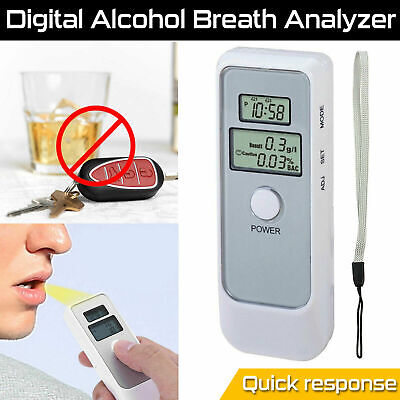 Digital LCD Police Breathalyzer Breath Test Alcohol Analyzer Detector Tester UK