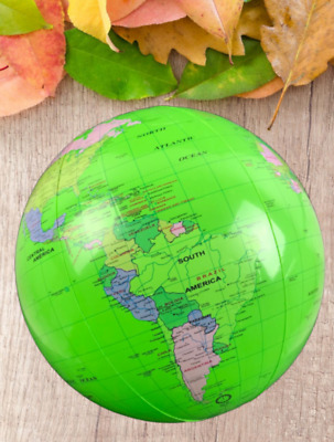 Inflatable World GLOBE Map Atlas Earth Learning Educational Kids Toys Ball 40cm
