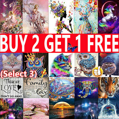 5D Diamond Painting Embroidery Cross Craft Stitch Pictures Arts Mural Wall Decor