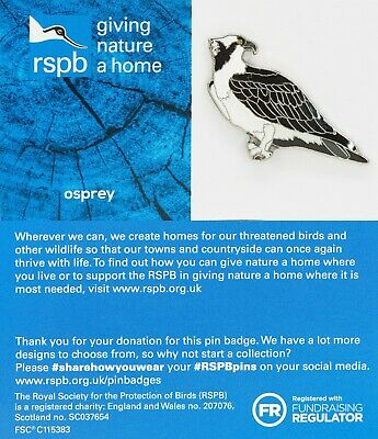 RSPB Pin Badge | osprey standing  GNAH BLUE (01589)
