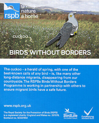 RSPB Pin Badge | Birds Without Borders Cuckoo (00833)