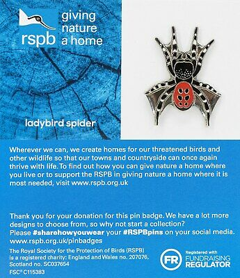 RSPB Pin Badge | ladybird spider  GNAH BLUE (01581)