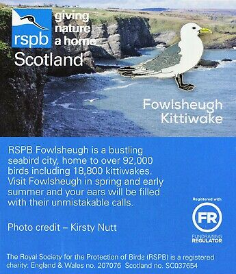 RSPB Pin Badge | Fowlsheugh kittiwake (01450)