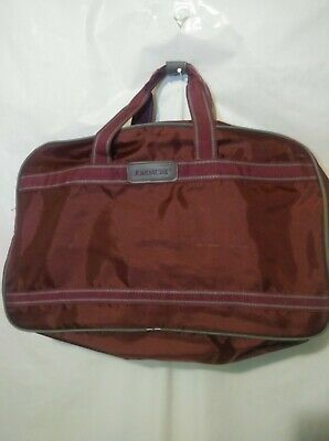 Vintage Jordache Travel Weekend Bag Maroon Luggage Carry On Tote