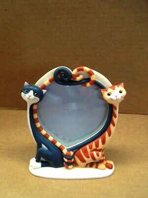 Toni Goffe 2004 BORDER FINE ARTS COOL CATS Tom & Becky Photo Picture Frame A4435