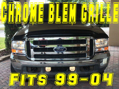 Ford CHROME Grille CONVERSION Fits 1999-2004 Super Duty blem F250 F350 with embl