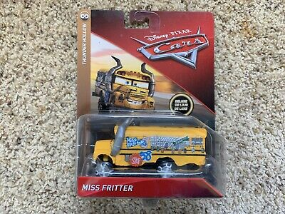 Disney Pixar Cars Deluxe Miss Fritter School Bus Demo Derby New Diecast Ship WW