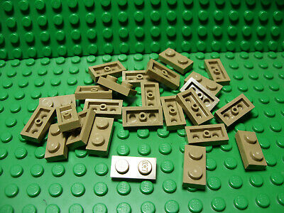 """** 25 CT LOT **  Lego NEW tan 1 x 2 /""""log/"""" pieces   Lot of 25"""